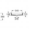 Zdjęcie Umywalka podblatowa Roca Inspira Square 60,5×39 cm FINECERAMIC® cafe A327535660