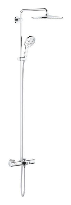 Grohe Rainshower SmartActive 310 System wannowo-prysznicowy z termostatem do montażu ściennego moon white 26657000