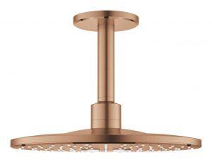 Grohe Rainshower SmartActive 310 Deszczownica z przepustem stropowym 142 mm, 2 strumienie brushed warm sunset 26477DL0