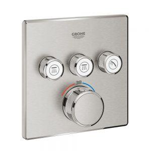 Grohe Grohtherm SmartControl Bateria termostatyczna do obsługi trzech wyjść wody stal nierdzewna 29126DC0
