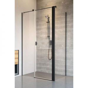 Drzwi prysznicowe uchylne Radaway Nes Black KDS II 100x200 cm prawe szkło przezroczyste 10033100-54-01R @ ^