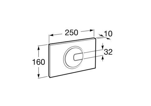Zdjęcie Stelaż podtynkowy do wc 3/6L Roca PRO A890090020 + Przycisk Roca PL4 2-funkcyjny biały A890098000 + Miska podwieszana WC Rimless Square z deską wolnoopadającą ULTRASLIM (zestaw) Roca Gap 54×37,5 cm biały A34H472000