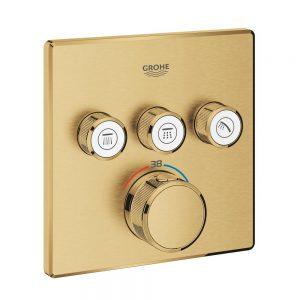 Grohe Grohtherm SmartControl Bateria termostatyczna do obsługi trzech wyjść wody brushed cool sunrise 29126GN0
