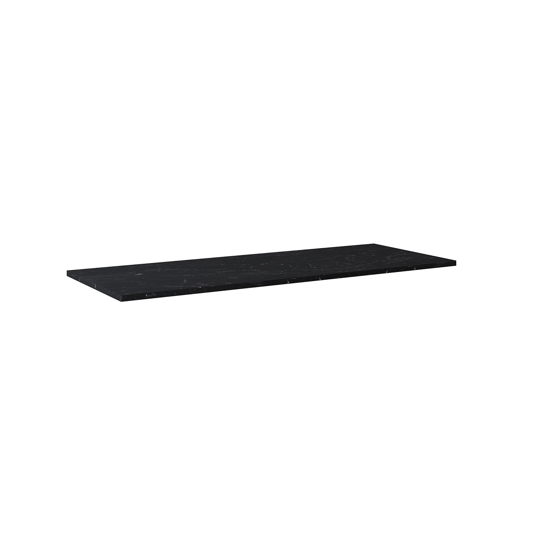 Blat marmur Elita Marquina 140(90+50)x49,4x2 cm black mat 167478