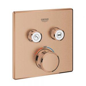 Grohe Grohtherm SmartControl Bateria termostatyczna do obsługi dwóch wyjść wody brushed warm sunset 29124DL0