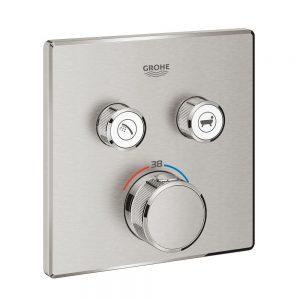 Grohe Grohtherm SmartControl Bateria termostatyczna do obsługi dwóch wyjść wody stal nierdzewna 29124DC0