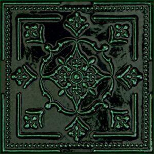 Płytka ścienna Dekor Tubądzin Tinta Green 14,8x14,8 cm @