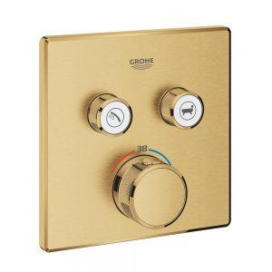 Grohe Grohtherm SmartControl Bateria termostatyczna do obsługi dwóch wyjść wody brushed cool sunrise 29124GN0