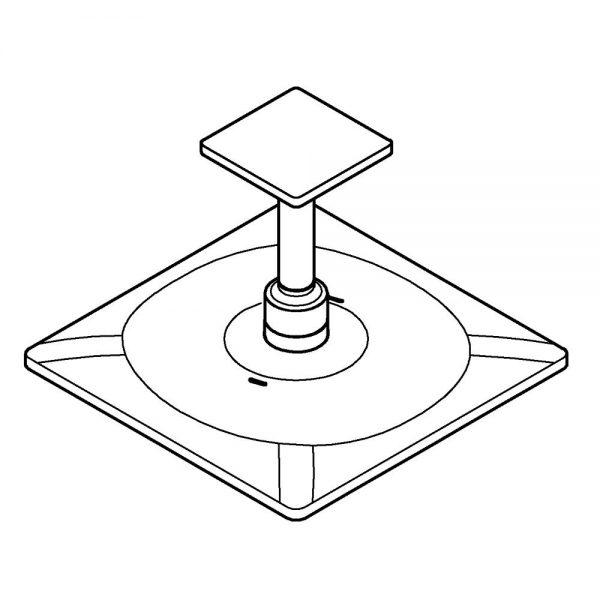 Zdjęcie Grohe Rainshower SmartActive 310 Cube Deszczownica z przepustem stropowym 142 mm, 2 strumienie stal nierdzewna 26481DC0