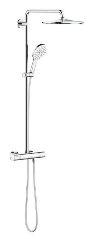 Grohe Rainshower SmartActive 310 System prysznicowy z termostatem do montażu ściennego moon white 26648LS0