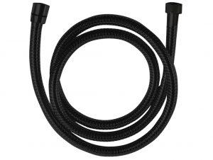 Wąż natryskowy rozciągliwy 1500-1800 mm Laveo Arno czarny CRA_74PD