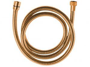 Wąż natryskowy rozciągliwy 1500-1800 mm Laveo Arno różowe złoto CRA_84PD