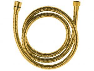 Wąż natryskowy rozciągliwy 1500-1800 mm Laveo Arno złoty CRA_G4PD