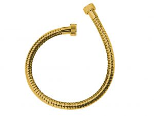Wąż podłączeniowy 700 mm Laveo Arno złoty CRA_GPTD