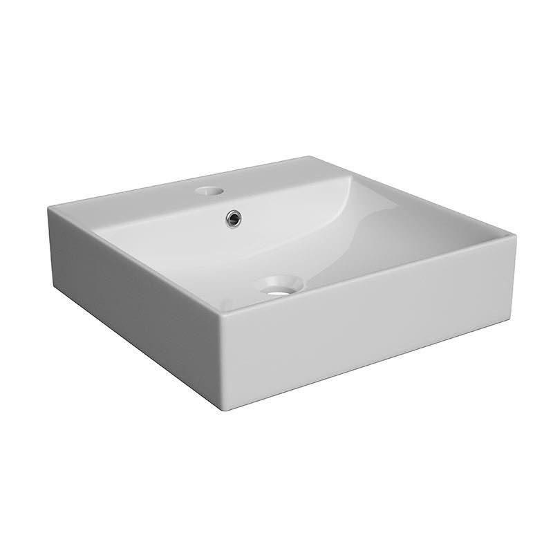 Umywalka stawiana na blat  Defra ELAN 40  400x400x100 mm biały 1578