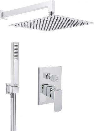 Deante Azalia Zestaw prysznicowy podtynkowy chrom NAC_09ZP