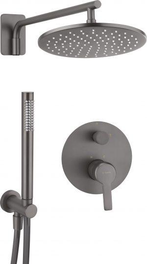 Deante Arnika Zestaw prysznicowy podtynkowy titanium NAC_D9QP
