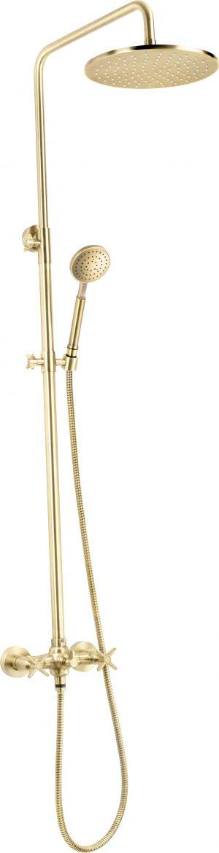 Deante Temisto Zestaw prysznicowy ścienny mosiądz NAC_M4QT