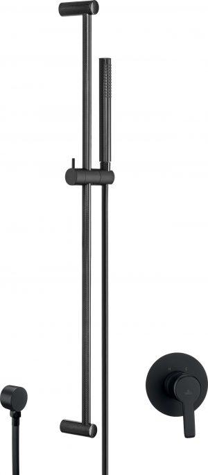 Deante Arnika Zestaw prysznicowy podtynkowy czarny NAC_N9FP