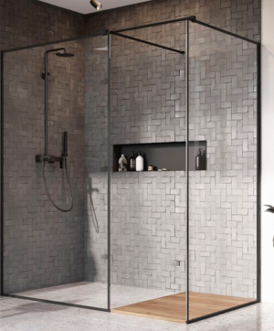 Kabina prysznicowa Walk-IN Radaway Modo X Black II Frame szkło, czarny 389285-54-56 @ ^