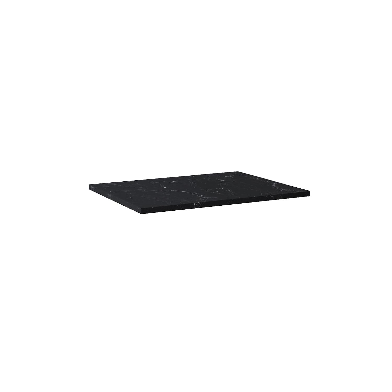 Blat Marmur Elita Marquina 70x49,4x2 cm black mat 167807