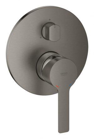 Grohe Lineare Jednouchwytowa bateria do obsługi trzech wyjść wody brushed hard graphite 24095AL1