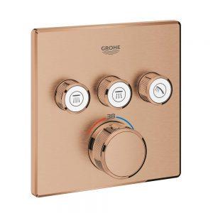 Grohe Grohtherm SmartControl Bateria termostatyczna do obsługi trzech wyjść wody brushed warm sunset 29126DL0