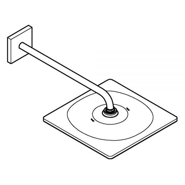Zdjęcie Grohe Rainshower Mono 310 Cube Deszczownica z ramieniem 422 mm, 1 strumień brushed hard graphite 26564AL0
