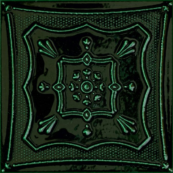Zdjęcie Płytka ścienna Dekor Tubądzin Tinta Green 14,8×14,8 cm @