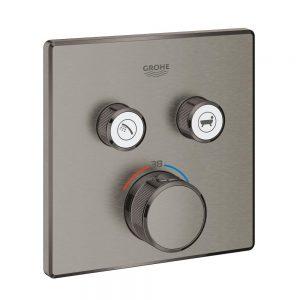 Grohe Grohtherm SmartControl Bateria termostatyczna do obsługi dwóch wyjść wody brushed hard graphite 29124AL0