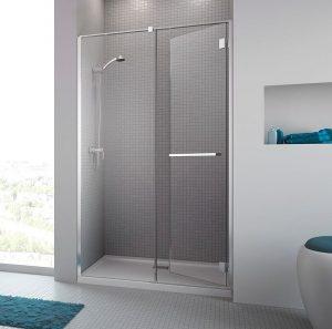 Drzwi prysznicowe uchylne Radaway Carena DWJ 120 120x195 cm prawe, chrom szkł. Przezro, z powłoką EasyClean 34332-01-01NR @ ^