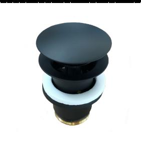 Korek umywalkowy okrągły Kludi czarny mat 1042639-00