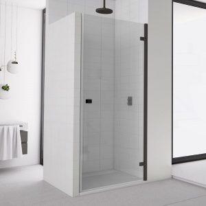 Drzwi prysznicowe uchylne Sanswiss Annea Black AN1C 90x200 cm prawe, przezroczyste Aquaperle AN1CD09000607 @
