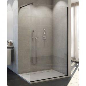 Ścianka prysznicowa Walk-In Sanswiss Easy wolnostojąca czarny mat / szkło przezroczyste STR4P1200607 @