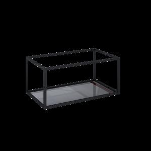 Stelaż podszawkowy Elita Look 80 black z półką szklaną czarny 167666
