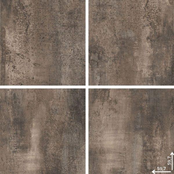 Zdjęcie Płytka podłogowa Ceramica Limone Hera Brown lappato 59,7×59,7 cm