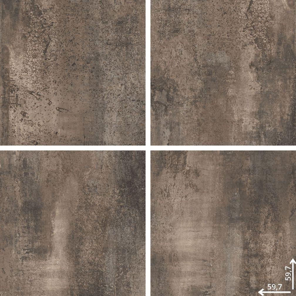 Płytka podłogowa Ceramica Limone Hera Brown lappato 59,7x59,7 cm