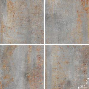 Płytka podłogowa Ceramica Limone Hera Acero mat 59,7x59,7 cm