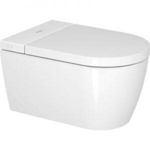 Miska WC Rimless wisząca z deską sedesową myjącą Duravit SensoWash Starck f Plus Compact biała 650000012004320