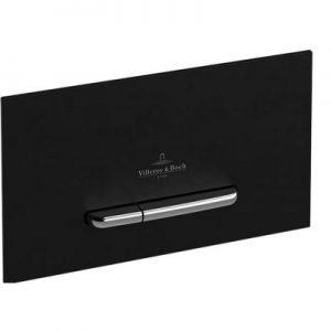 Przycisk do WC Villeroy&Boch ViConnect E300  chrom mat/czarny mat 922169AN