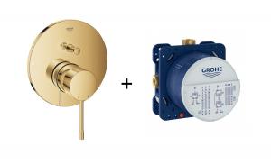 Podtynkowa bateria do obsługi dwóch wyjść wody Grohe Essence cool sunrise 24058GL1 + Uniwersalny element podtynkowy Grohe Rapido SmartBox 35600000