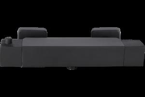 Bateria natryskowa ścienna termostatyczna bez zestawu natryskowego Laveo Kvadrato czarny BLQ_74TD