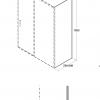 Zdjęcie Panel boczny przejrzyste szkło Besco Actis 80×195 cm PA-80