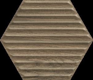 Płytka ścienna Paradyż Serene Brown Heksagon Struktura Ściana 19.8 x 17.1 cm SS—198X171-1-SERE.BR
