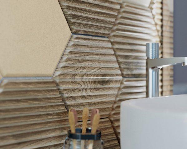 Zdjęcie Płytka ścienna Paradyż Serene Bianco Ściana Struktura Rekt. 25 x 75 cm SSR-250X750-1-SERE.BI