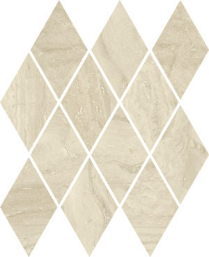 Mozaika ścienna Paradyż Silence Beige Mozaika Prasowana Romb Pillow Mat 20.6 x 23.7 cm M-P-206X237-1-SILE.BEPIL