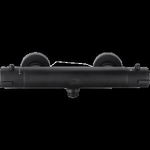 Bateria natryskowa ścienna termostatyczna bez zestawu natryskowego Laveo Termico czarny BAT_74TD