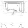 Zdjęcie Wanna asymetryczna prawa Besco Intima 150×85 cm biały WAIT-150-NP