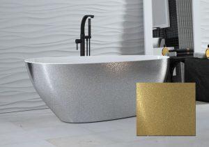 Wanna wolnostojąca złota Besco Goya Glam 160x70 cm złoty WMD-160-GZ