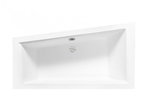 Wanna asymetryczna prawa Besco Intima 150x85 cm biały WAIT-150-NP